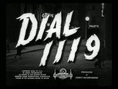 "1950's ""Dial 1119"" for MGM."