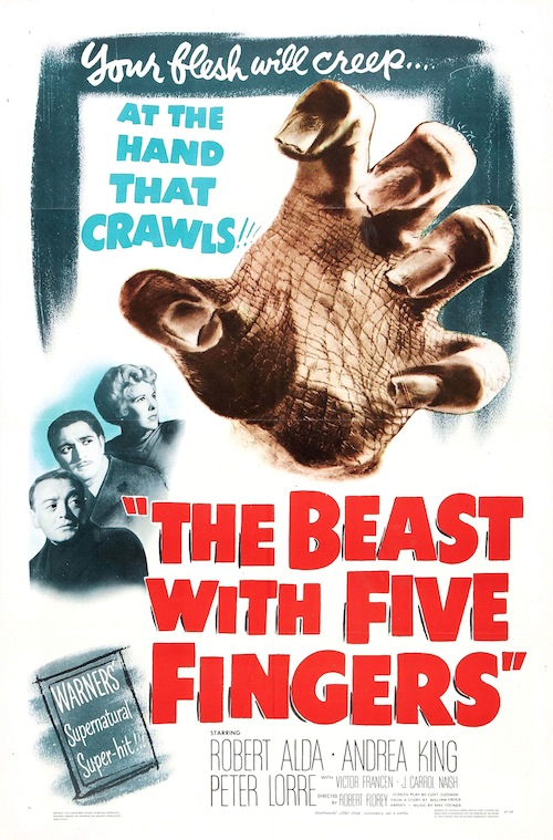 The Beast With Five Fingers on DVD!