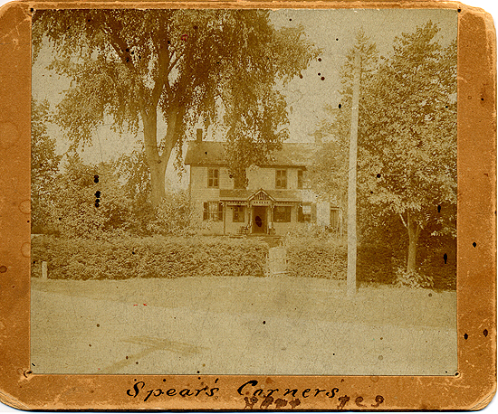 Belle Hart McKee's childhood home. Spears Corners. Milan, Ohio. c. 1890.
