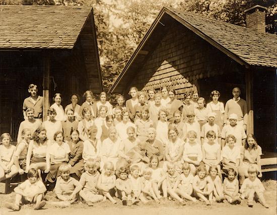 The Gardiner-Doing Camp in the Adirondacks. Upper St. Regis Lake, NY. Circa 1929.