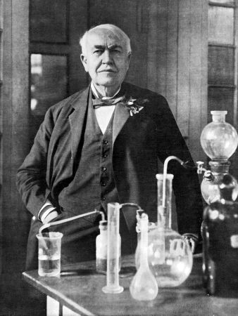 Thomas Alva Edison. The Wizard of Menlo Park.