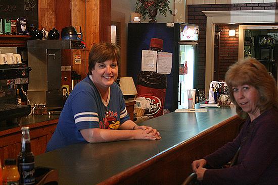 Jennifer McWilliams (left), owner of the Ben Franklin Bistro in Clinton, Missouri.
