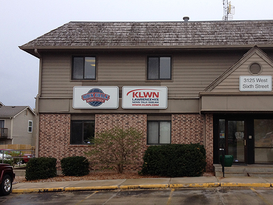 Radio Station KLWN AM 1350 in Lawrence, Kansas.